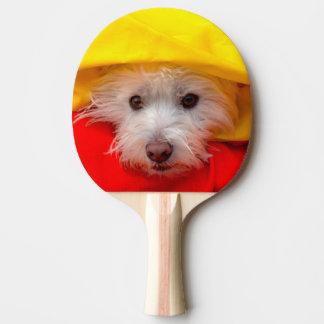 Raquette Tennis De Table Montagne Terrier blanc occidentale jetant un coup