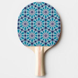 Raquette Tennis De Table Motif abstrait dans bleu et gris
