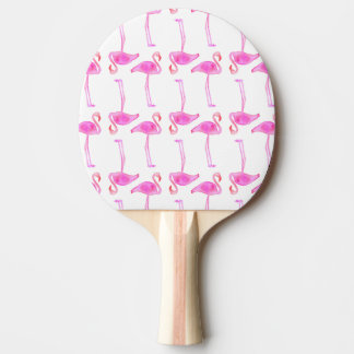 Raquette Tennis De Table Motif rose de flamant