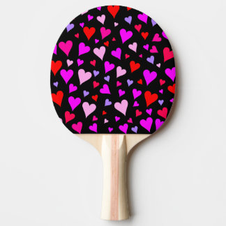 Raquette Tennis De Table Motif rouge, rose, pourpre et magenta d'amusement