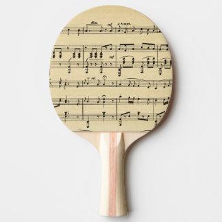 Raquette Tennis De Table Musique de feuille antique