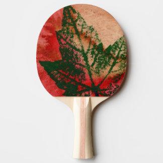 """Raquette Tennis De Table """"Nature botanique rouge d'impression de nature de"""