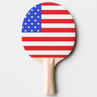 Raquette Tennis De Table Palette blanche des Etats-Unis Amérique et bleue