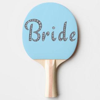 Raquette Tennis De Table Palette bling de ping-pong de jeune mariée