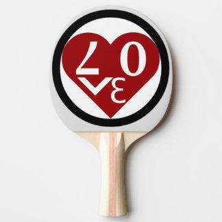 Raquette Tennis De Table Palette de ping-pong d'amour de coeur