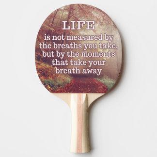 Raquette Tennis De Table Palette de ping-pong de citation de la vie