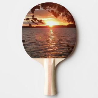 Raquette Tennis De Table Palette de ping-pong de coucher du soleil