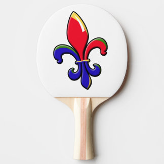 Raquette Tennis De Table Palette de ping-pong de Creole Fleur de Lis