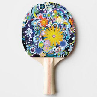Raquette Tennis De Table Palette de ping-pong de flower power
