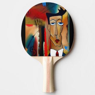 Raquette Tennis De Table Palette de ping-pong, dos rouge en caoutchouc
