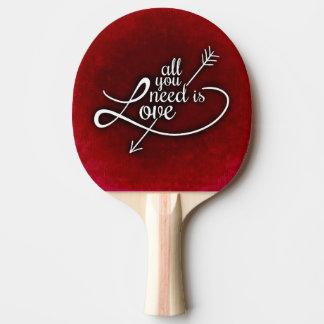 Raquette Tennis De Table Palette de ping-pong,  rouge de dos en caoutchouc