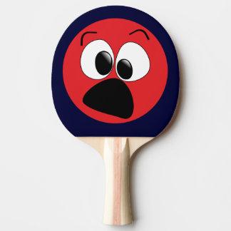 Raquette Tennis De Table Palette drôle rouge de ping-pong de visage