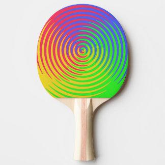 Raquette Tennis De Table Palette en spirale de ping-pong d'arc-en-ciel