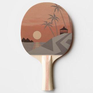 Raquette Tennis De Table Palette FRAÎCHE de ping-pong de TROPIQUES