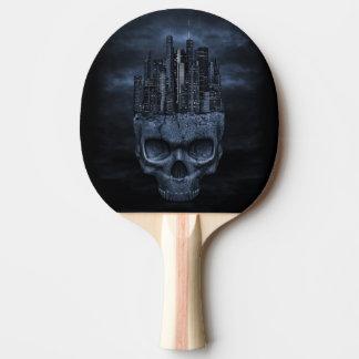 Raquette Tennis De Table Palette gothique de ping-pong de ville de crâne