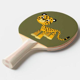 Raquette Tennis De Table Palette heureuse mignonne de ping-pong de guépard