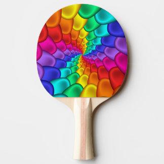 Raquette Tennis De Table Palette psychédélique de ping-pong de spirale