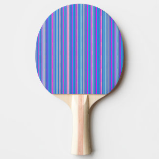 Raquette Tennis De Table palette rayée rose bleue de ping-pong