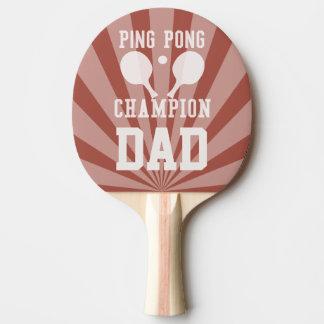 Raquette Tennis De Table Palette rouge de champion du ping-pong du papa