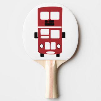 Raquette Tennis De Table Palette rouge de ping-pong d'autobus à impériale