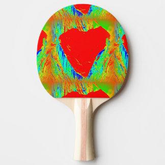 Raquette Tennis De Table palette rouge de ping-pong de coeur