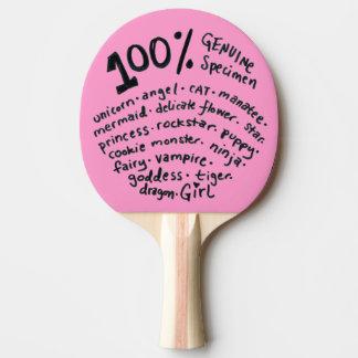 Raquette Tennis De Table Palette véritable de ping-pong de fille de