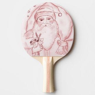 Raquette Tennis De Table Père Noël démodé en rouge