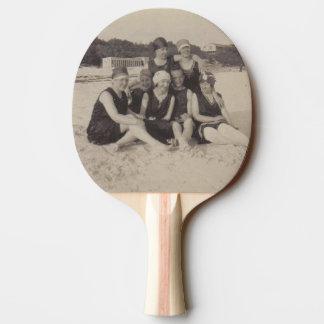 Raquette Tennis De Table Photographie vintage du groupe de plage 1920