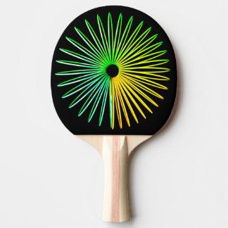 Raquette Tennis De Table Ping-pong psychédélique abstrait d'illusion