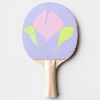 Raquette Tennis De Table Ressort - motif floral vert rose violet