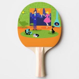 Raquette Tennis De Table Rétro palette romantique de ping-pong de couples
