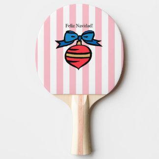 Raquette Tennis De Table Rose rouge de palette de ping-pong d'ornement de