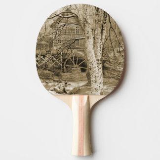 Raquette Tennis De Table Roue hydraulique vintage