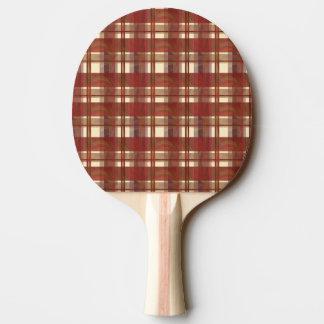 Raquette Tennis De Table Rouge d'automne de plaid de Madras