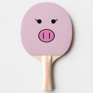 Raquette Tennis De Table Sadie le porc rose | Kawaii mignon