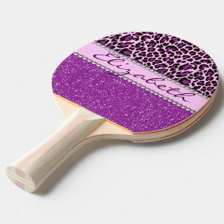 Raquette Tennis De Table Scintillement pourpre personnalisé d'empreinte de