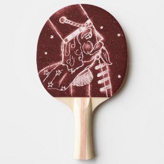 Raquette Tennis De Table Soldat de jouet en rouge de canneberge