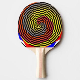 Raquette Tennis De Table Spirale bleue jaune rouge par Kenneth Yoncich