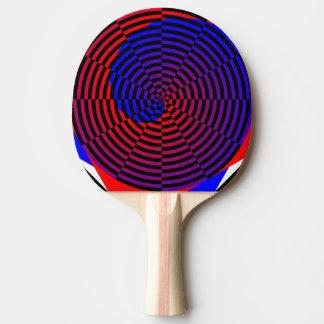 Raquette Tennis De Table Spirale rouge et bleue par Kenneth Yoncich