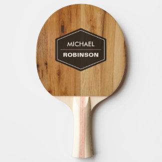 Raquette Tennis De Table Texture en bois moderne personnalisée de grain