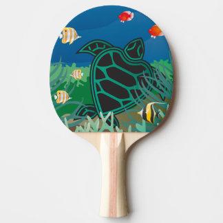 Raquette Tennis De Table Tortue d'îles d'Hawaï de baie de Hanauma