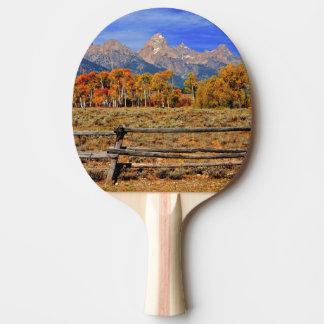 Raquette Tennis De Table Un moment au Wyoming en automne
