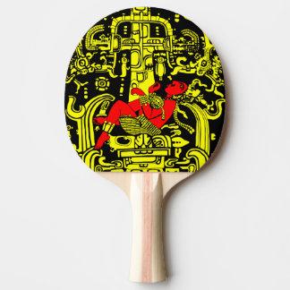 Raquette Tennis De Table Version jaune et rouge d'astronaute antique