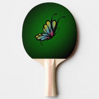 Raquette Tennis De Table Vert de mosaïque de papillon