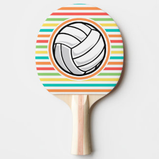 Raquette Tennis De Table Volleyball ; Rayures lumineuses d'arc-en-ciel