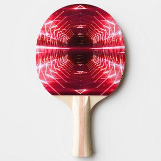 Raquette Tennis De Table Vortex rougeoyant graphique moderne, rouge -