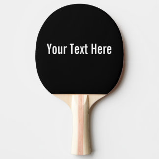 Raquette Tennis De Table Votre des textes palette noire faite sur commande