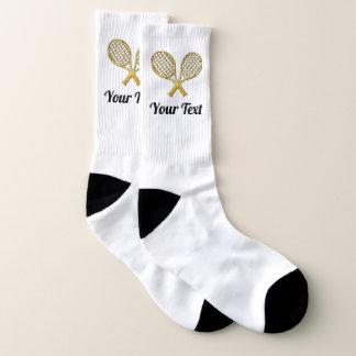 Raquettes de tennis d'or votre couleur et texte