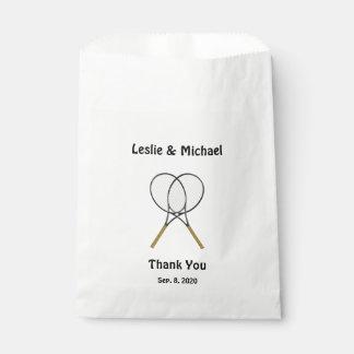 Raquettes de tennis faites sur commande sachets en papier