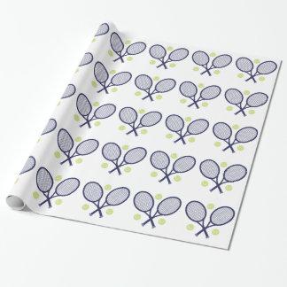 Raquettes de tennis papier cadeau